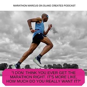 marathon marcus running with quote