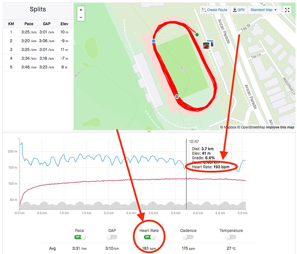 heart rate comparison oct 2020 race